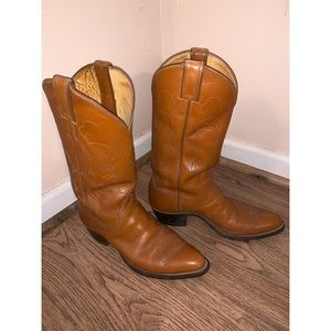 Men's Justin 5533 Leather Western Cowboy Boots 8.5